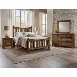 Maple Road Slat Poster Bed