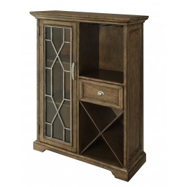 Wine Cabinet, One Door One Drawer