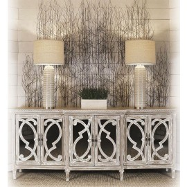 Naples Mirrored 6 Door Cabinet