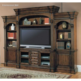 "PARKER HOUSE GENOA VINTAGE PECAN 65"" ENTERTAINMENT WALL"