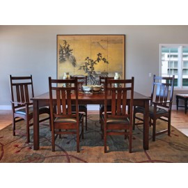 Harvey Ellis Dining Table w/2 Arm Chairs & 4 Side Chairs