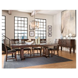 Hayden Trestle Dining Table with Storing Leaf