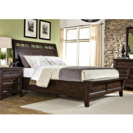 Hayden King Sleigh Bed With Storage