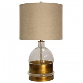 Mid-Field Glass Body Table Lamp