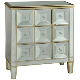 MIRRORED 9 DRAWER APOTHECARY CHEST