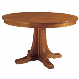 Round Pedestal Dining Table & 4 Cottage Side Chairs