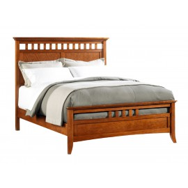 Modern Shaker Queen Slat Panel Bed