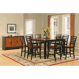 Abaco Counter Height Dining Table & 6 Counter Height Stools