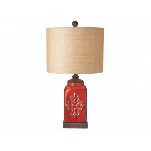 Doerr furniture fleur de lis table lamp fleur de lis table lamp aloadofball Choice Image