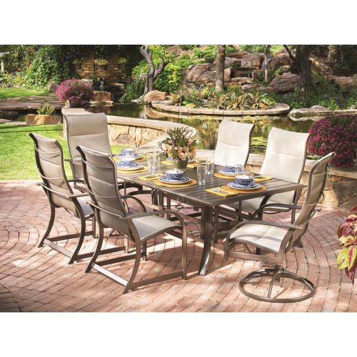 outdoor dining table and chairs large doerr furniture key west outdoor dining table