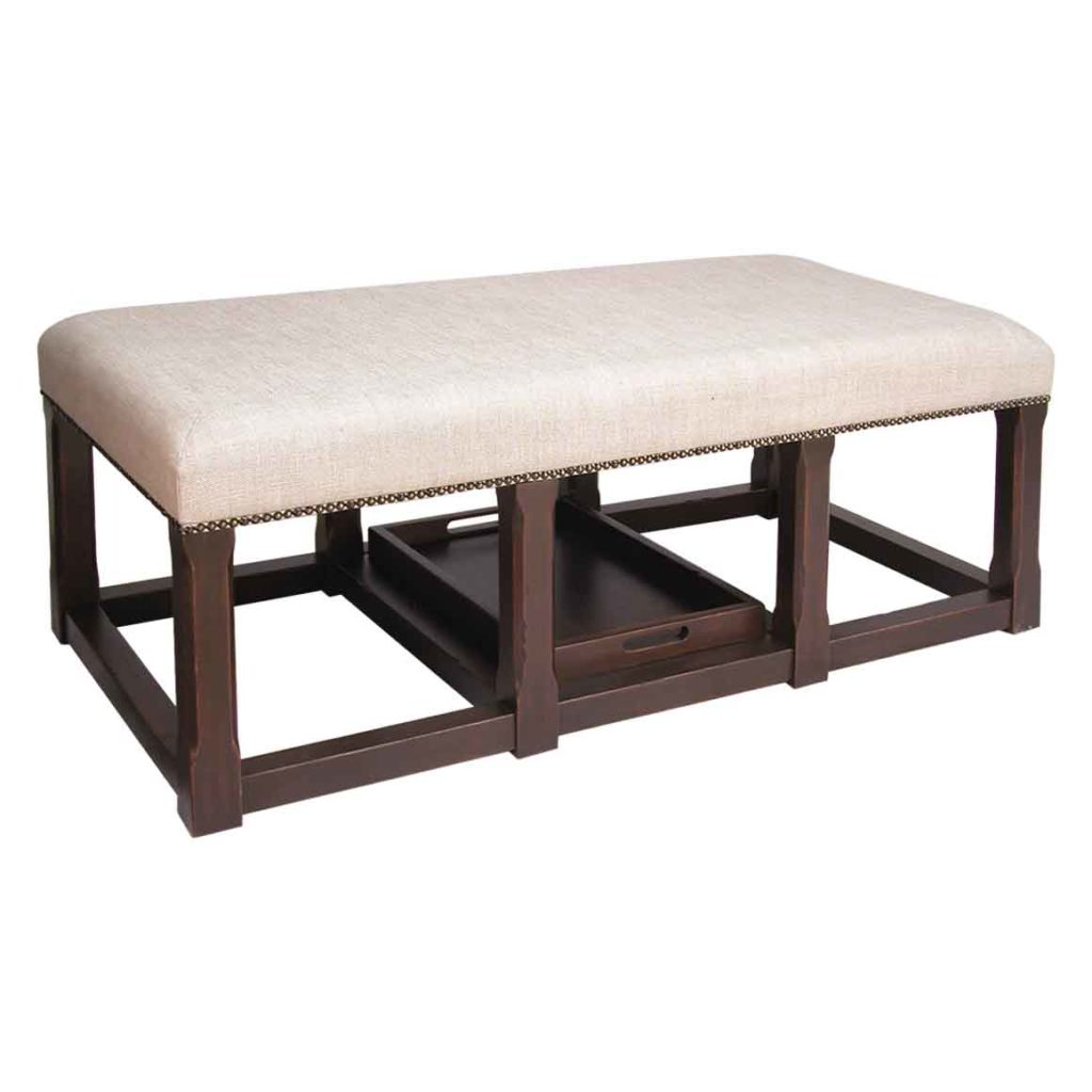 Marvelous Doerr Furniture Bench Cocktail Ottoman With Tray Cjindustries Chair Design For Home Cjindustriesco