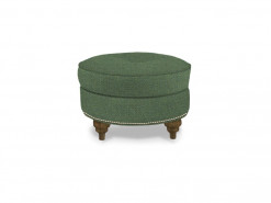 Large Round Custom Fabric Ottoman by HGTV Design Studios
