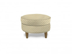 Medium Round Custom Fabric Ottoman by HGTV Design Studios
