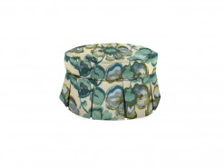 Small Round Custom Fabric Ottoman by HGTV Design Studios