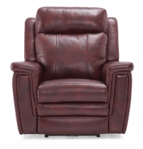 Asher Power Leather Recliner w/Power Headrest and Lumbar