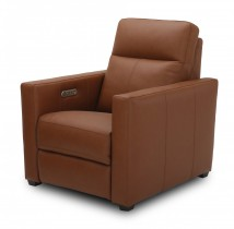 POWER RECLINER LEATHER MATCH WITH POWER HEADRESTS