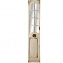Distressed White Door Wall Mirror*