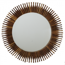 Repurposed Roller Pin Wall Mirror