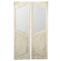 2 Piece Ivory Door Window Wall Mirror