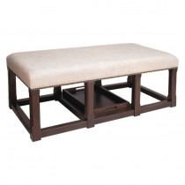 Bench/Cocktail Ottoman with Tray