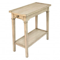 Narrow 2-Tier End Table With One Drawer