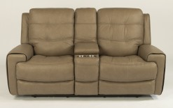 Wicklow Power Reclining Loveseat w//Console & Power Headrest