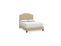 Vienna Arched Custom Upholstered Queen Bed