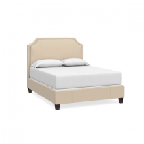 Florence Clipped Corner Upholstered Queen bed with Low Footboard