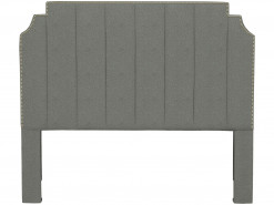 Princeton Channel Tufted Upholstered Full Headboard by HGTV Design Studios
