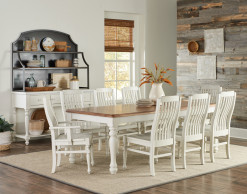 Scotsman Co. American Heirloom Collection Solid Maple Dining Table, 4 Side Chairs & 2 Armchairs