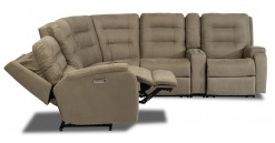 Arlo Power Reclining SEctional w/Power Headrest and and Straight Console