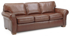 Vail Leather 3 Cushion Sofa