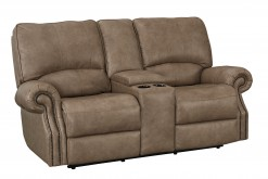 Prescott Power Reclining Loveseat with Console and Adjustable Headrest