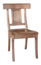 Bench*Made Baxter Maple Side Chair With Upholstered Seat
