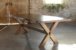 "Bench*Made Maple 90"" Rectangular Live Edge Table"