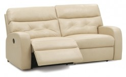 Southgate Leather Match Power  Reclining Sofa