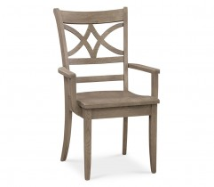 MERRILL OAK ARM CHAIR WITH FABRIC SEAT