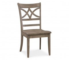 MERRILL OAK SIDE CHAIR WITH FABRIC SEAT