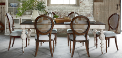 Avondale Rectangular Leg Dining Table with 6 Avondale Oval Back Side Chairs