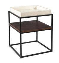 Square Accent Table w/Shelf