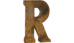 "Letter ""R"" Reclaimed Tin"
