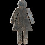 Small Women Figure, Reclaimed Tin