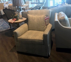 Clarice Swivel Chair with skirt