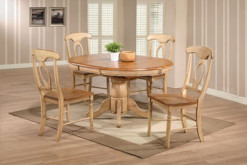 "Quails Run 57"" Pedestal Table w/4 Napoleon Chairs"