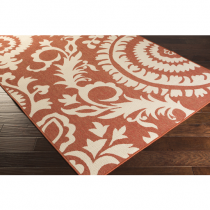 6' x 6' Alfresco Rust Rug