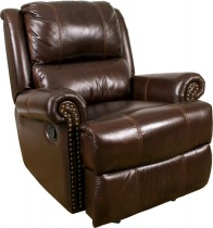 Aries Leather Gliding Recliner