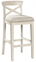 Bayview Wood X-Back Non-Swivel Counter Stool