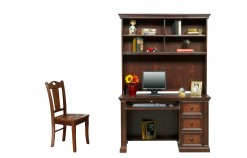 "Cape Cod Collection 50"" Flat Top Desk with Hutch"