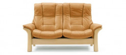 Stressless Buckingham-High Back Leather Loveseat
