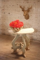 Kalalou Wooden Demi Lune Table